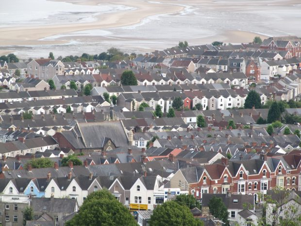 House roofs in Swansea