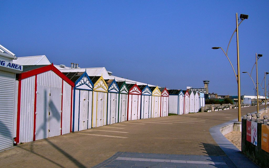 Beach huts in great yarmouth